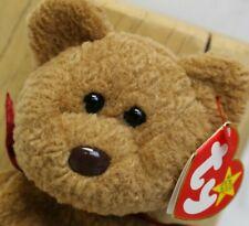 "1996 TY Beanie Baby Buddy Brown Teddy Bear CURLY Hang Tag MWMT 8"""