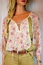 SUNDANCE CATALOG Cottage Blooms Peasant Top Size X Small