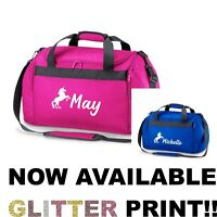 fd74a5731e2a Personalised Name Unicorn Sports Holdall Bag School Dance Girls Overnight  Gym