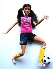 BARBIE Mattel Made to Move FOOTBALL SOCCER PLAYER DOLL MIX Fashionistas A. konvul