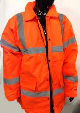 JSP Luminous High Visibility Orange Work Jacket Waterproof Size 4XL