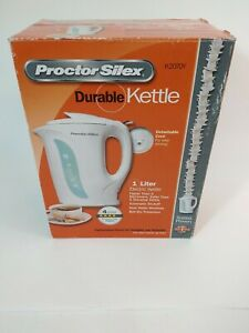 Proctor Silex 1L Durable Electric Kettle White 1000W  New