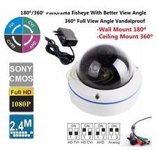 180/360Degree Fisheye Indoor outdoor Dome Camera 700TVL 12VDC with Power Adapter