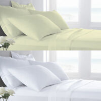 400 Thread Count Soft Touch Sateen Egyptian Cotton Flat Sheet Or Pillow pair