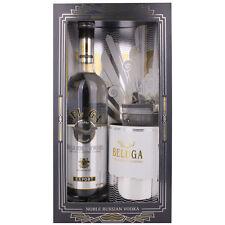 Beluga Noble Russian Vodka EXPORT Caviar Set + GB mit Kaviar Dose 40,00 % 0.