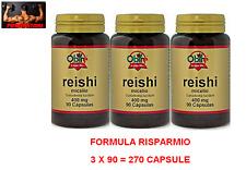 OBIRE REISHI GANODERMA LUCIDUM 400 Mg - 270 Cpr FUNGHI MEDICINALI ANTIBATTERICO