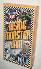 BEST OF INSIDE MONSTER JAM VIDEO VOLUME 1 VHS SEALED