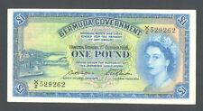 BERMUDA  1 Pound 1966  XF AU   QEII  P20d   RARE BANKNOTE