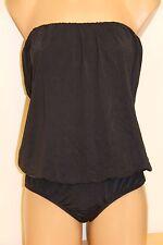 NWT MAIO Swim by Monica Wise Swimsuit Bikini 1 one piece size 10 Black Strapless