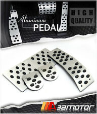Manual MT Aluminum Circle Pedal Set Gas Brake Footrest for LHD 04-08 ACURA TL