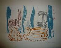 MASSON André Lithographie originale signée 1960 surréalisme