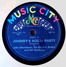 JOHN HEARTSMAN & THE GAYLARKS - JOHNNY'S HOUSE PARTY PT. 1 & 2 - MUSIC CITY - 78