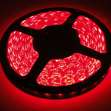 12V DC Red 5M 500CM Waterproof 5050 SMD Flexible LED Strip Lights Lamp 300 Leds