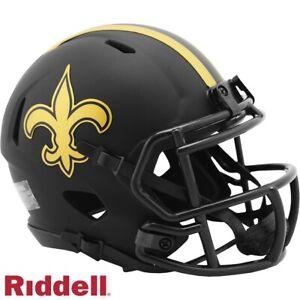 New Orleans Saints Alt Eclipse Riddell Speed Mini Helmet - New in Riddell Box