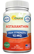 aSquared Nutrition Astaxanthin Supplement - Max Strength 10mg - 120 Softgels