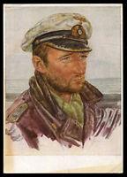 WW2 WWII Germany 3rd Reich Willrich Postcard Hitler Wehrmacht Navy Lieutenant PC