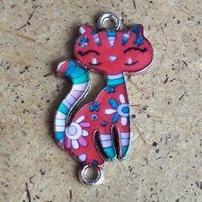 Colourful Enamel Cat Connector Bracelet