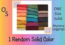 1 NEW LuLaRoe Mystery Solid ONE SIZE Leggings - OS Picked at Random - FAST Ship!