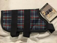 Zack & Zoey Dog Blanket Coat XX-Small Plaid ALL Weather Soft Fleece Lining NEW