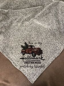 """This Is My Hallmark Christmas Movie Watching Blanket""  Throw 50x60 Unbranded"