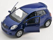 Spedizione LAMPO TOYOTA YARIS Blu/Blue Welly Modello Auto 1:34 NUOVO & OVP
