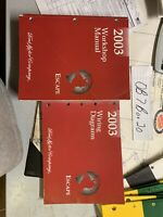 2003 Ford Escape Workshop Manual & Wiring Diagrams OEM