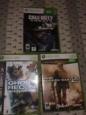 Xbox 360 3 Game Lot. Call Of Duty Ghosts & Modern Warfare 2 , Ghost Recon