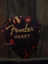 *NEW METAL FENDER GUITAR PICK DECOR music shop display wall art stratocaster pic