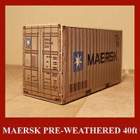 HO Rail Freight Container Model Card Kits 20ft HO 1:87 Pre-Weathered