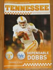 2014 Tennessee Vols vs Kentucky Wildcats NCAA Football Playbook Josh Dobbs