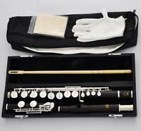 Professional SR Grenadilla Wooden Alto Flute Silver G Key With Prof Headjoint