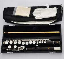 Professional SR Grenadilla Wooden Alto Flute Silver G Key With Prof Headjoint