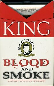 Blood and Smoke by Stephen King, 3 cassette tapes, read by author!! VG CONDITION