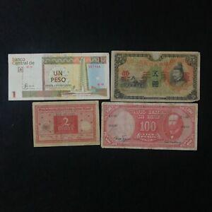 Lotto: 4 Banconote Chile Rara, Germania, Cina e altro