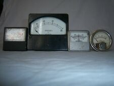 Lot of 4 DC Ammeters 40A, 30A, 75-0-75, 600-0-600A, 0-50mA Milliamps Panel Meter