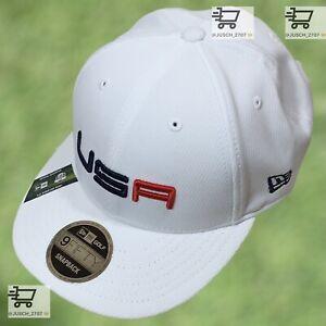 2020 Ryder Cup USA America WHITE Golf SNAPBACK Hat New Era ⛳️ Whistling Strait