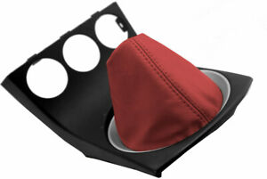 For Nissan 350Z 2003-2008 Manual Shifter Gear Boot Cover Vinyl Red