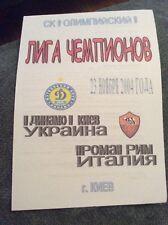 Dynamo Kiev v AS Roma 2004 Champions League 4 Page Pirate Programme