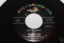 Tommy Roe Oh So Right b/w I Think I Love You 45 From Co Vault Unopened Box NM *