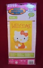 "Hello Kitty House Flag Autumn/Fall Design Acorn Applique  28"" x 40"" UNOPENED"