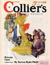 1934 Colliers June 16 - Models on the Runway; Mae West; Scottie Dog; Sax Rohmer
