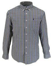 Farah Long Sleeved Blue/Burgundy/White Gingham Button-Down Shirts