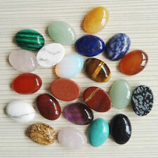 Wholesale 30pcs/lot mixed natural gemstone Oval CAB CABOCHON stone 13x18mm beads