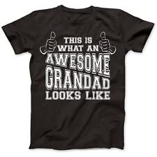Grandad Awesome Grandpa Gift Present T-Shirt Premium Cotton Grandma Funny