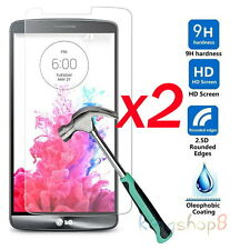 2x Premium Real Tempered Glass Screen Protector Protective Film Guard For LG G3