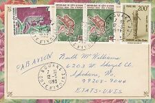 BD825) Ivory Coast 1993 nice airmail cover to USA