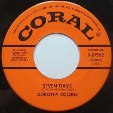 DOROTHY COLLINS: SEVEN DAYS / MANUELLO rare CORAL 45 50s NICE