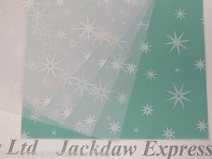 Printed Vellum Paper - White Stars A4 100gsm Choose 10 or 25 Sheets Craft