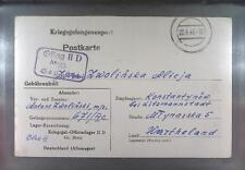 Camp Oflag IID Grossborn 1943 POW Prisoner of War Kriegsgefangenenpost (K10e)