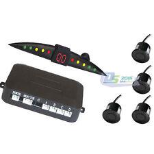 1 Set Car LED Display Reverse Backup Radar System 4 Parking Sensor Tools Black